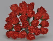 11mm RED CARNATION dianthus BUDS Mulberry Paper Flowers